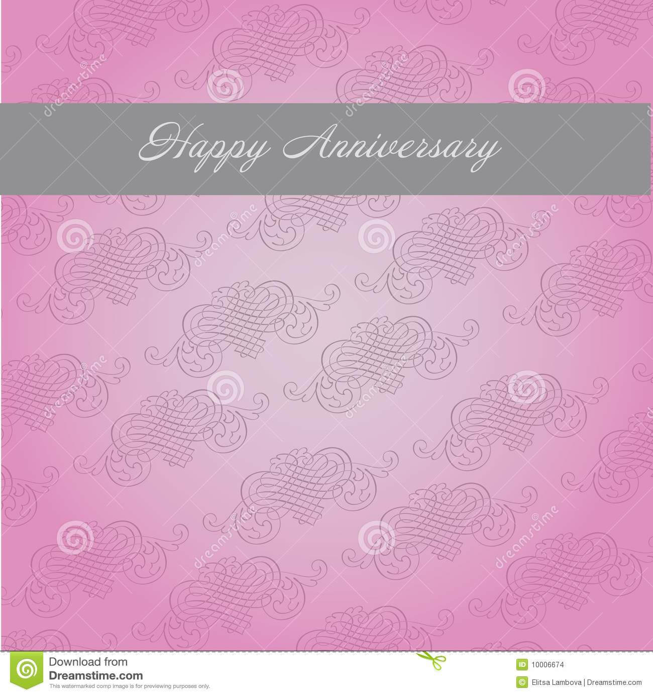 Anniversary Template Stock Vector. Illustration Of Greeting For Template For Anniversary Card