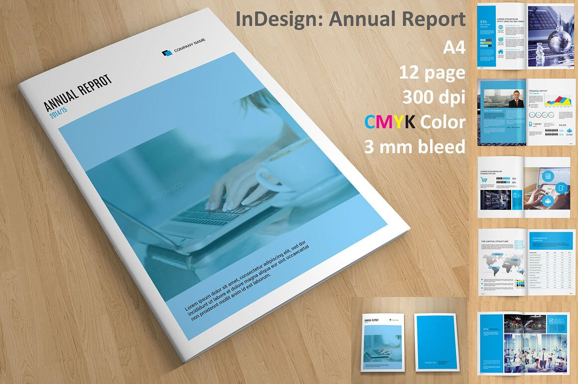 Annual Report Indesign Template Free Pertaining To Free Indesign Report Templates