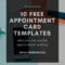 Appointment Card Template: 10 Free Resources For Small Inside Appointment Card Template Word