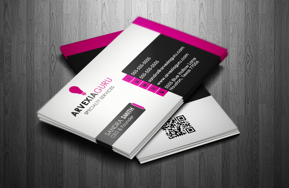 Arvexia Business Card Template - Luxurious Web Design With Web Design Business Cards Templates