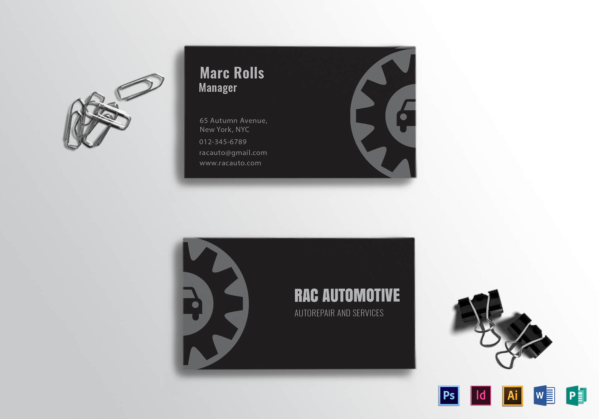 Automotive Business Card Template Regarding Automotive Business Card Templates