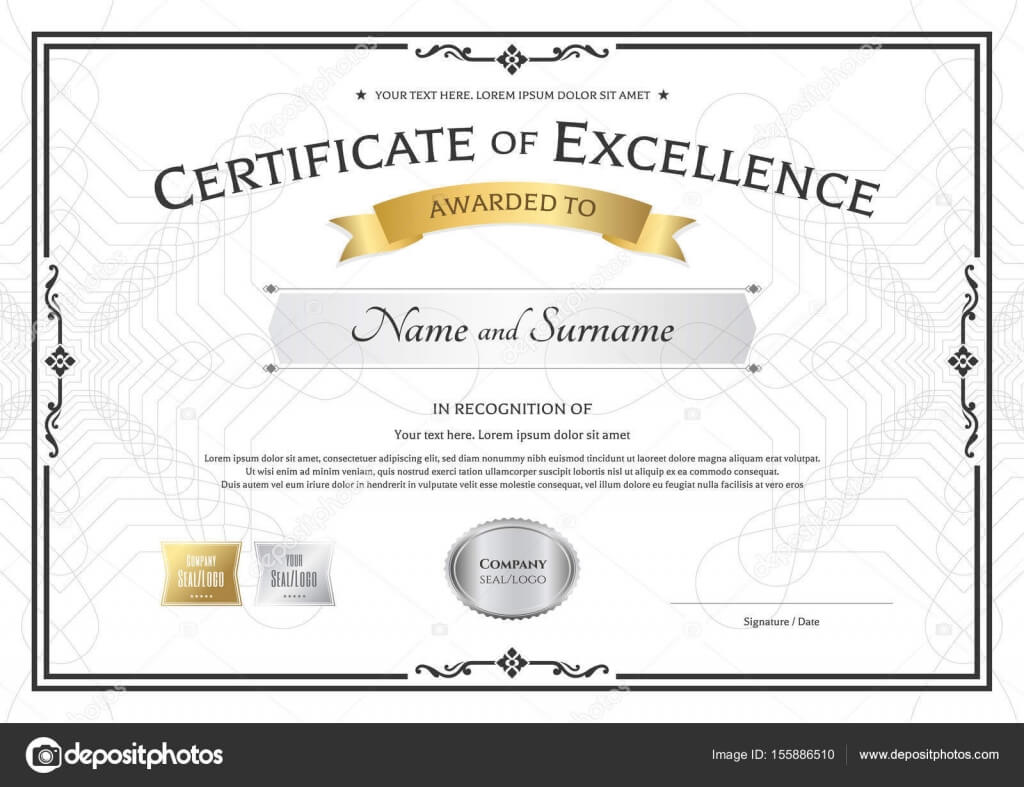 Award Of Excellence Certificate Template - Bolan Inside Award Of Excellence Certificate Template