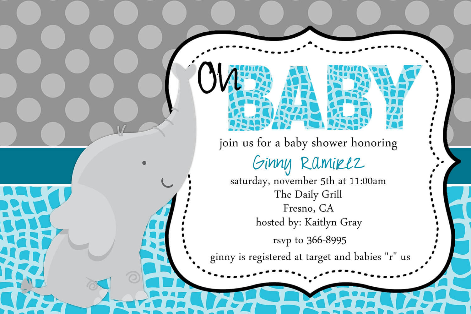 Baby Shower Invitation Templates For Word Regarding Free Baby Shower Invitation Templates Microsoft Word