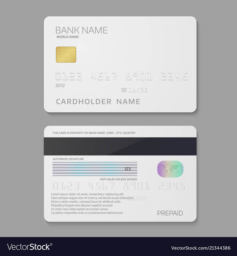 Bank Credit Card Template With Regard To Credit Card Templates For Sale