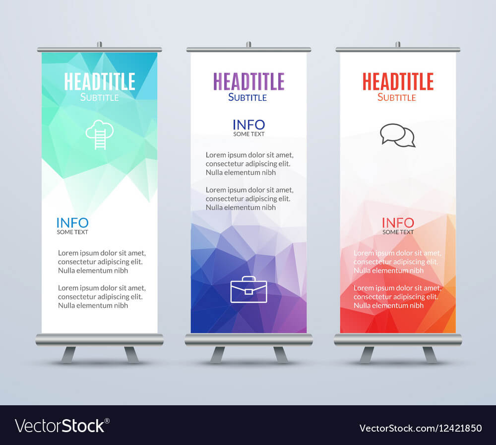 Banner Stand Design Template With Abstract With Regard To Banner Stand Design Templates