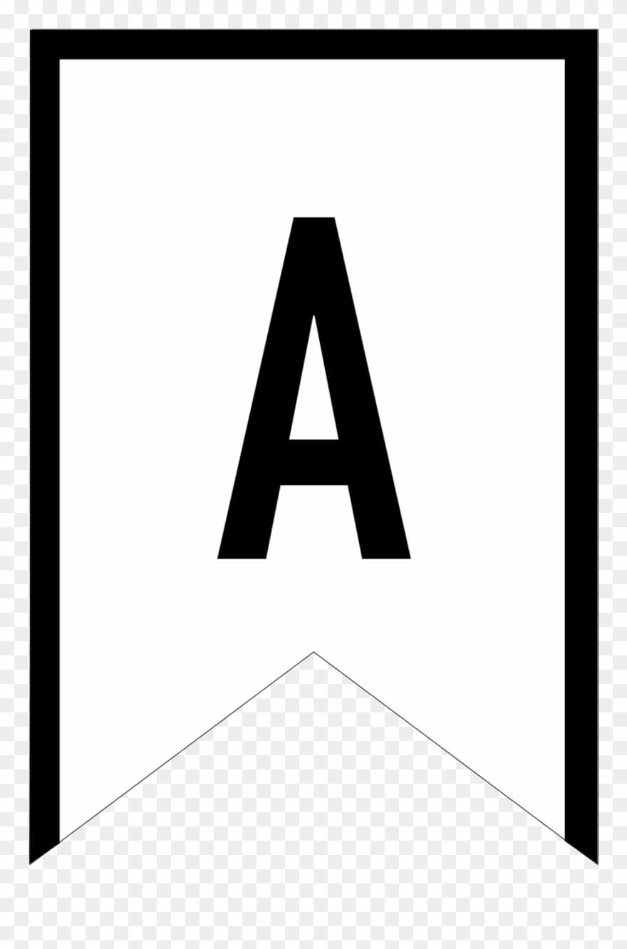 Banner Templates Free Printable Abc Letters - Triangle With Free Printable Pennant Banner Template