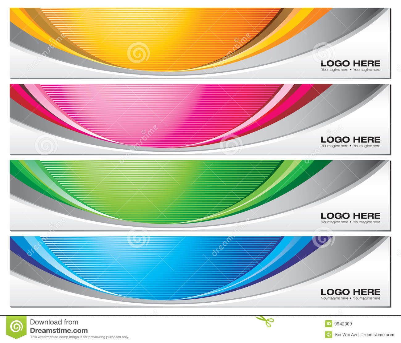 Banner Templates Stock Vector. Illustration Of Vector - 9942309 Regarding Free Online Banner Templates