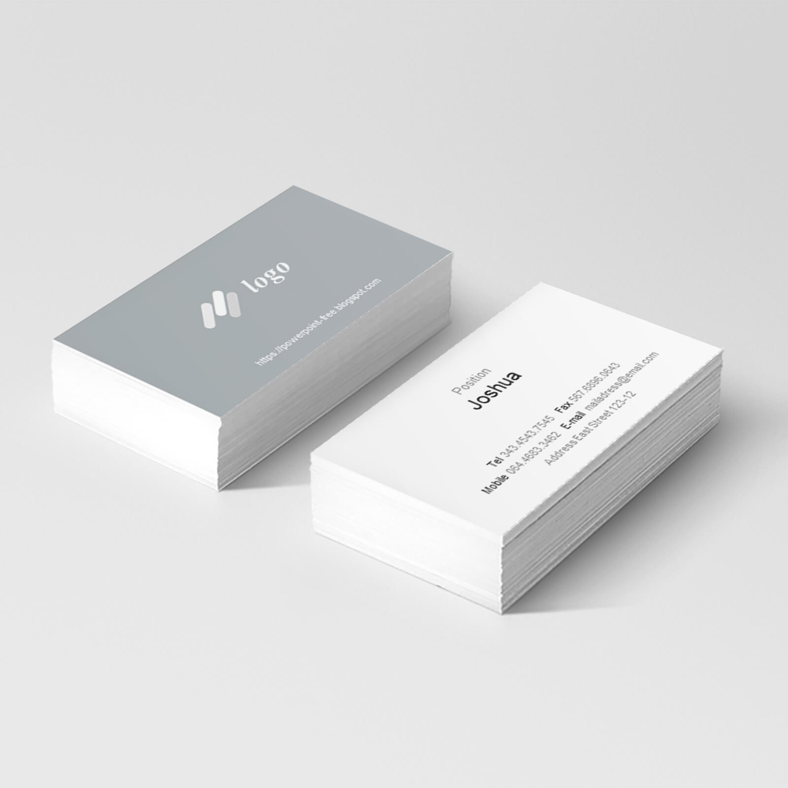 Basic Business Card Powerpoint Templates - Powerpoint Free With Business Card Template Powerpoint Free