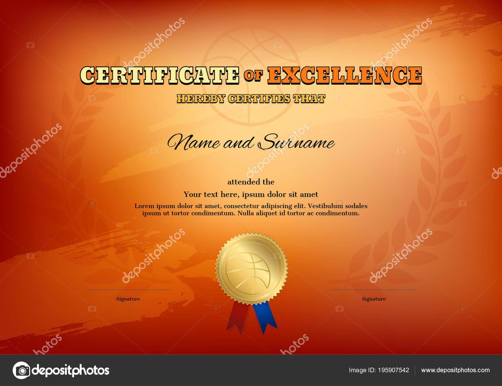 Basketball Camp Certificate Template | Certificate Template Pertaining To Basketball Camp Certificate Template