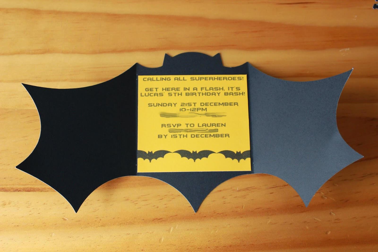 Batman Birthday Invitations Templates Ideas : Batman With Regard To Batman Birthday Card Template