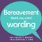 Bereavement Thank You Notes | Lovely Wording Examples In Sympathy Thank You Card Template