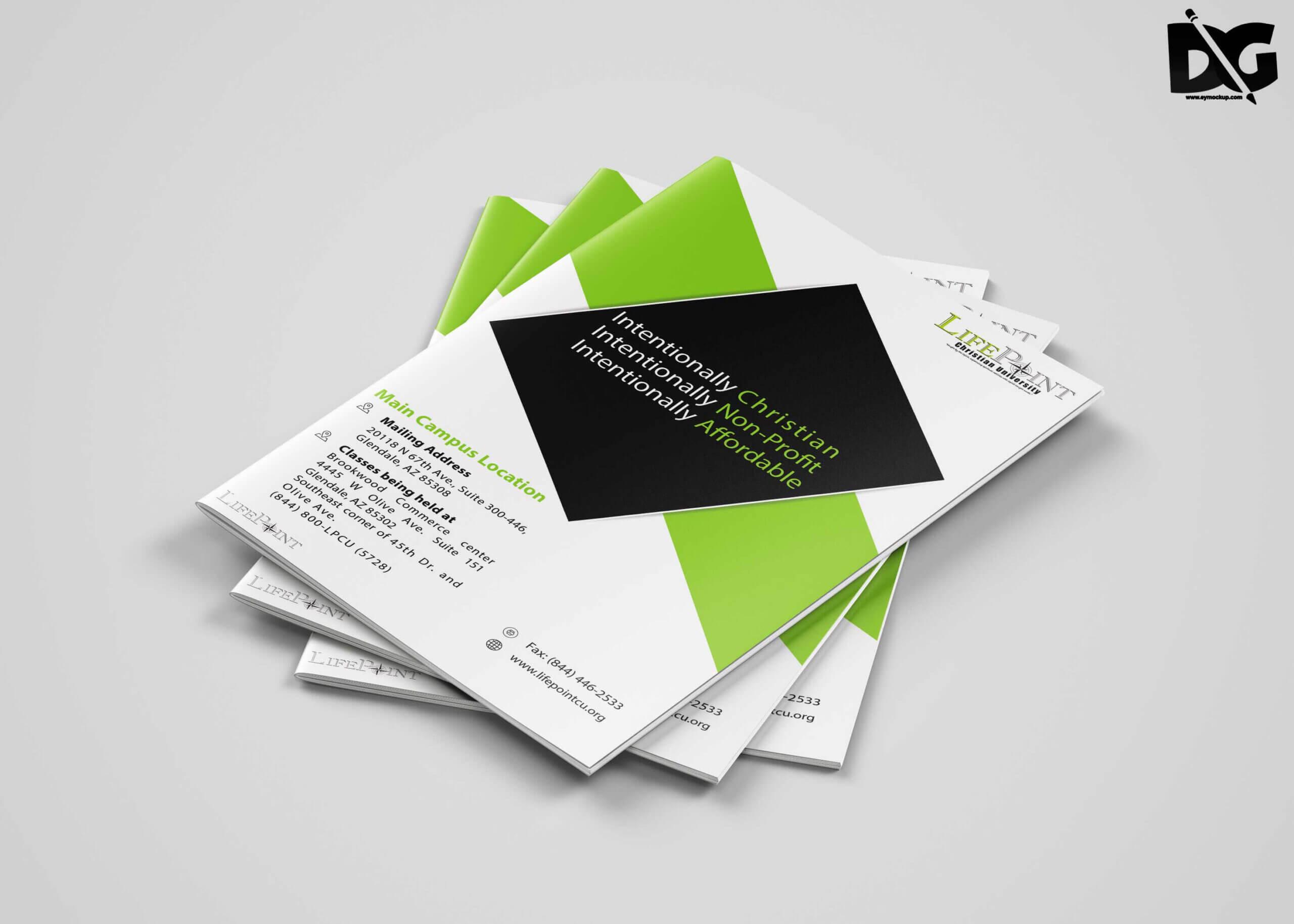 Bi Fold Brochure Template Free Download - Yatay For Two Fold Brochure Template Psd
