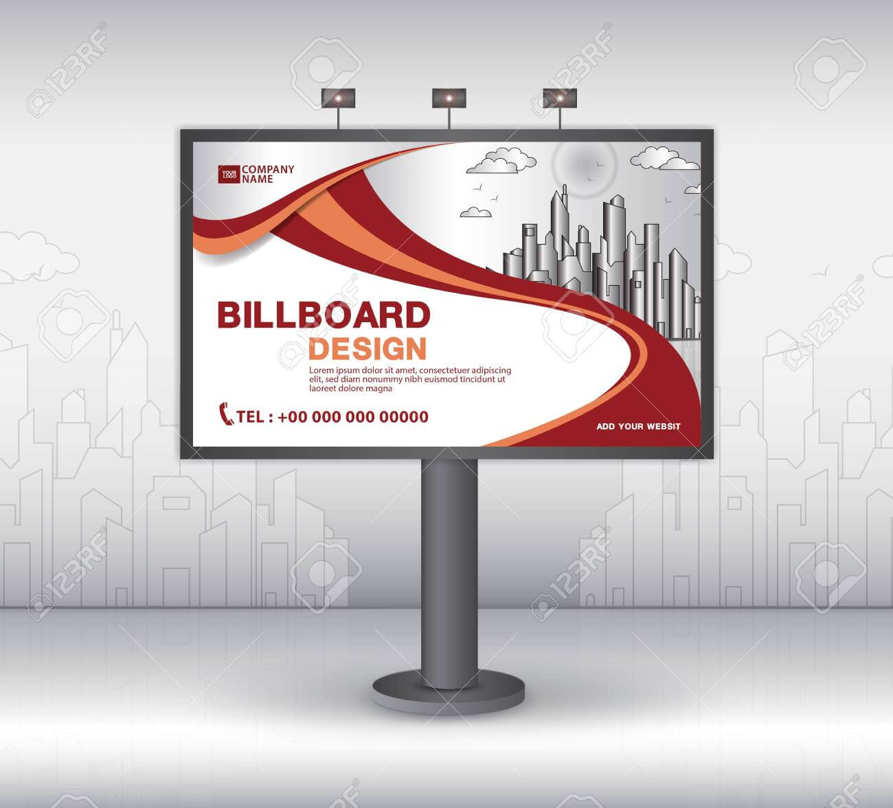 Billboard Banner Template Vector Design, Advertisement, Realistic.. Throughout Outdoor Banner Template