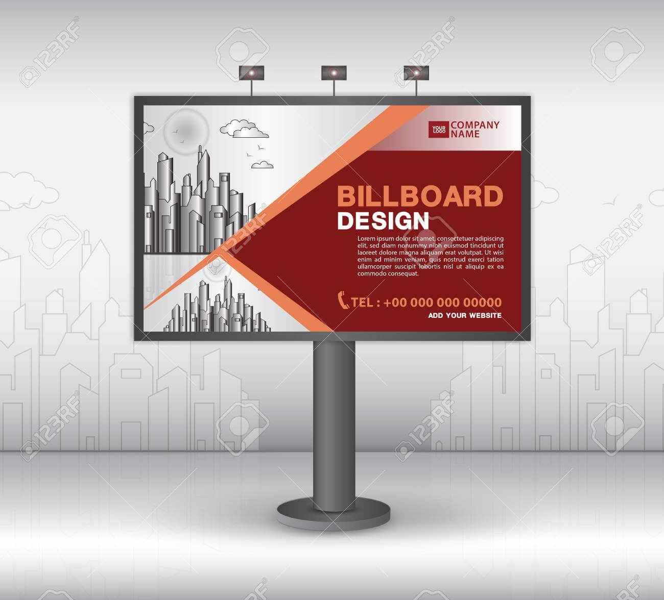 Billboard Banner Template Vector Design, Advertisement, Realistic.. With Regard To Outdoor Banner Template