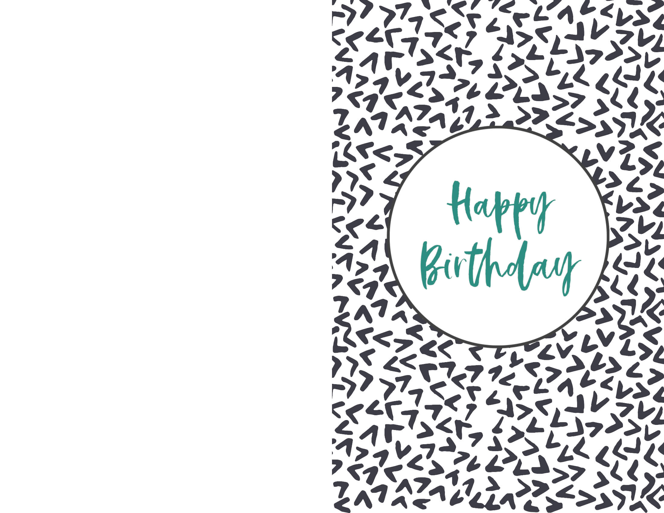 Birthday Card Print - Yatay.horizonconsulting.co With Regard To Foldable Birthday Card Template