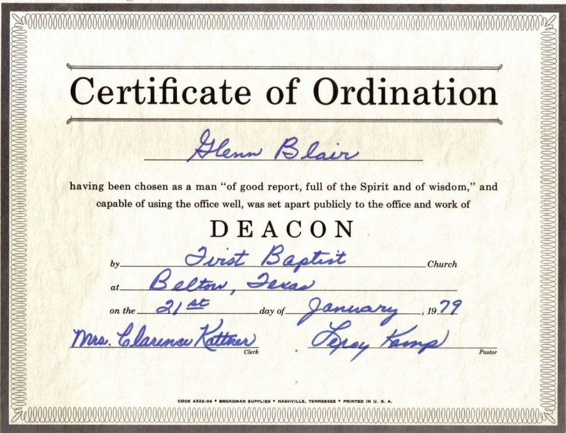 Bishop Ordination Certificate Template Intended For Ordination Certificate Template