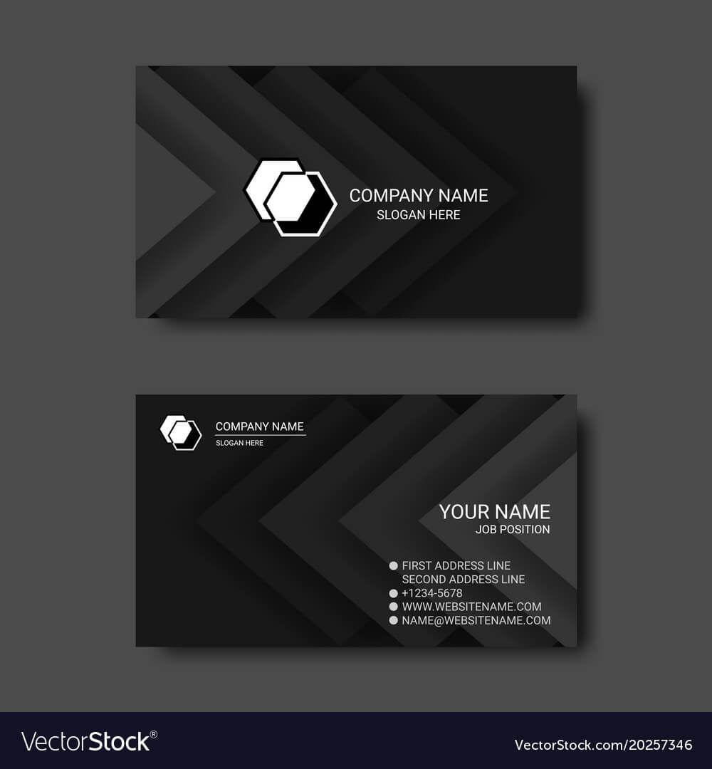 Black And White Abstract Business Card Templates Within Black And White Business Cards Templates Free