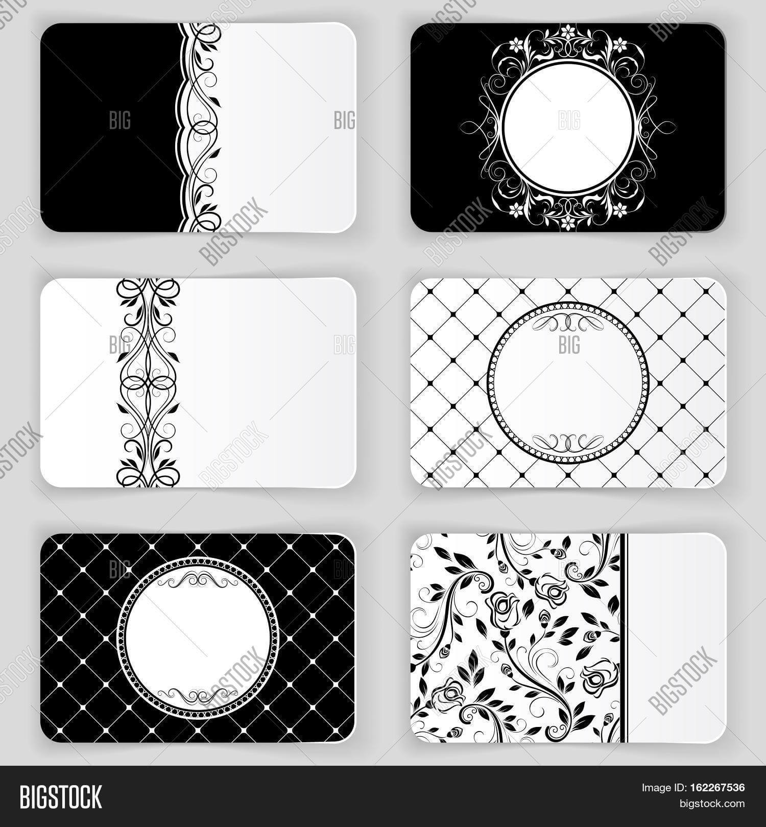 Black White Vintage Image & Photo (Free Trial) | Bigstock For Black And White Business Cards Templates Free