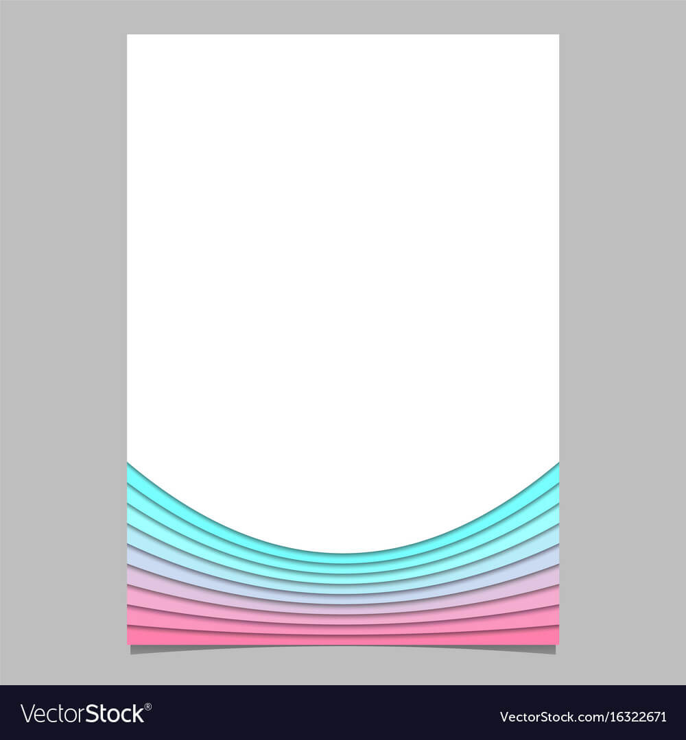 Blank Brochure Template From Curves - Flyer Regarding Blank Templates For Flyers