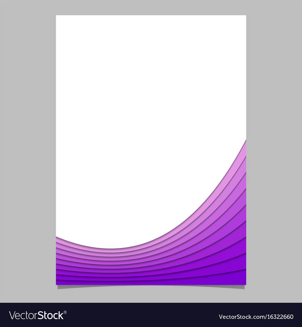 Blank Brochure Template From Curves - Flyer With Regard To Blank Templates For Flyers