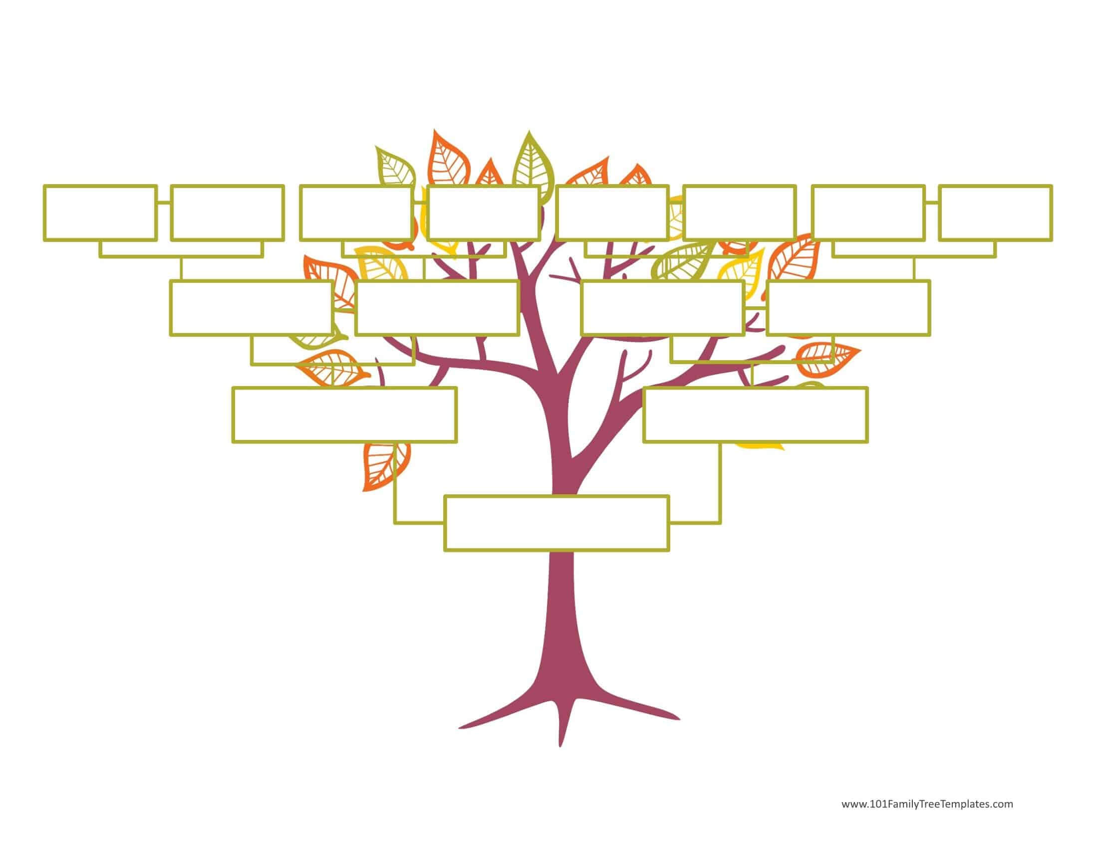 Blank Family Tree Template | Free Instant Download Inside Fill In The Blank Family Tree Template