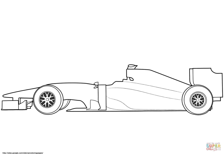 Blank Formula 1 Race Car Coloring Page   Free Printable Regarding Blank Race Car Templates