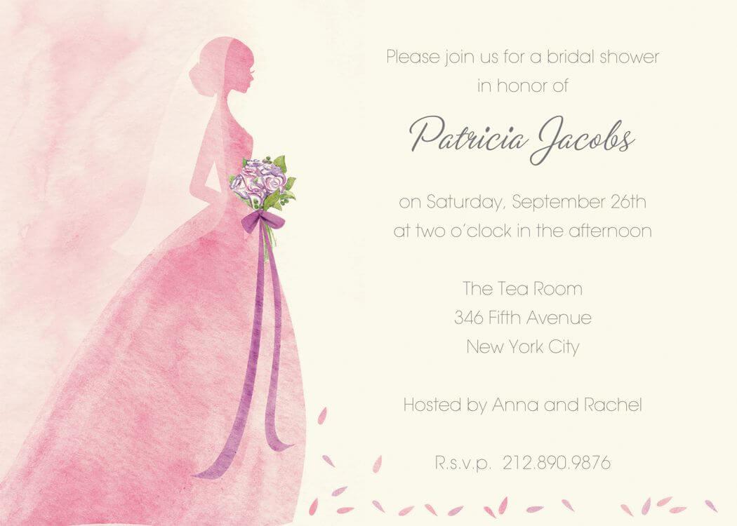 Blank Invitation Templates For Microsoft Word Wedding Free Inside Blank Bridal Shower Invitations Templates