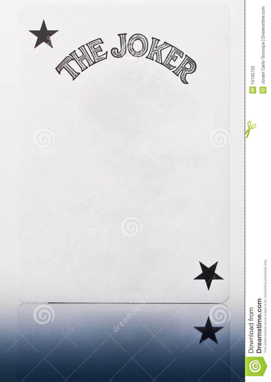 Blank Joker Card Stock Image. Image Of Concept, Prankster For Joker Card Template