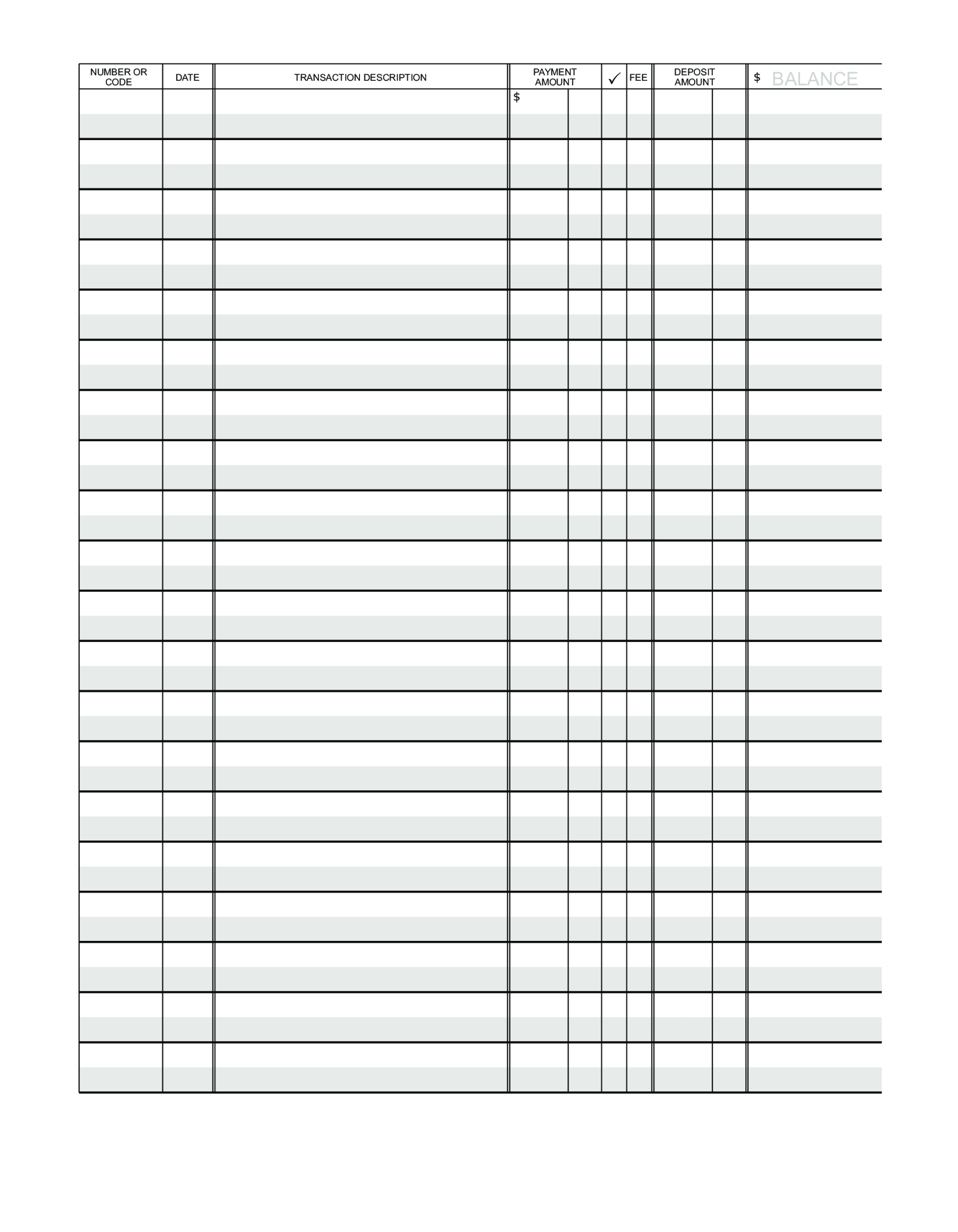 Blank Ledger Paper | Templates At Allbusinesstemplates Intended For Blank Ledger Template