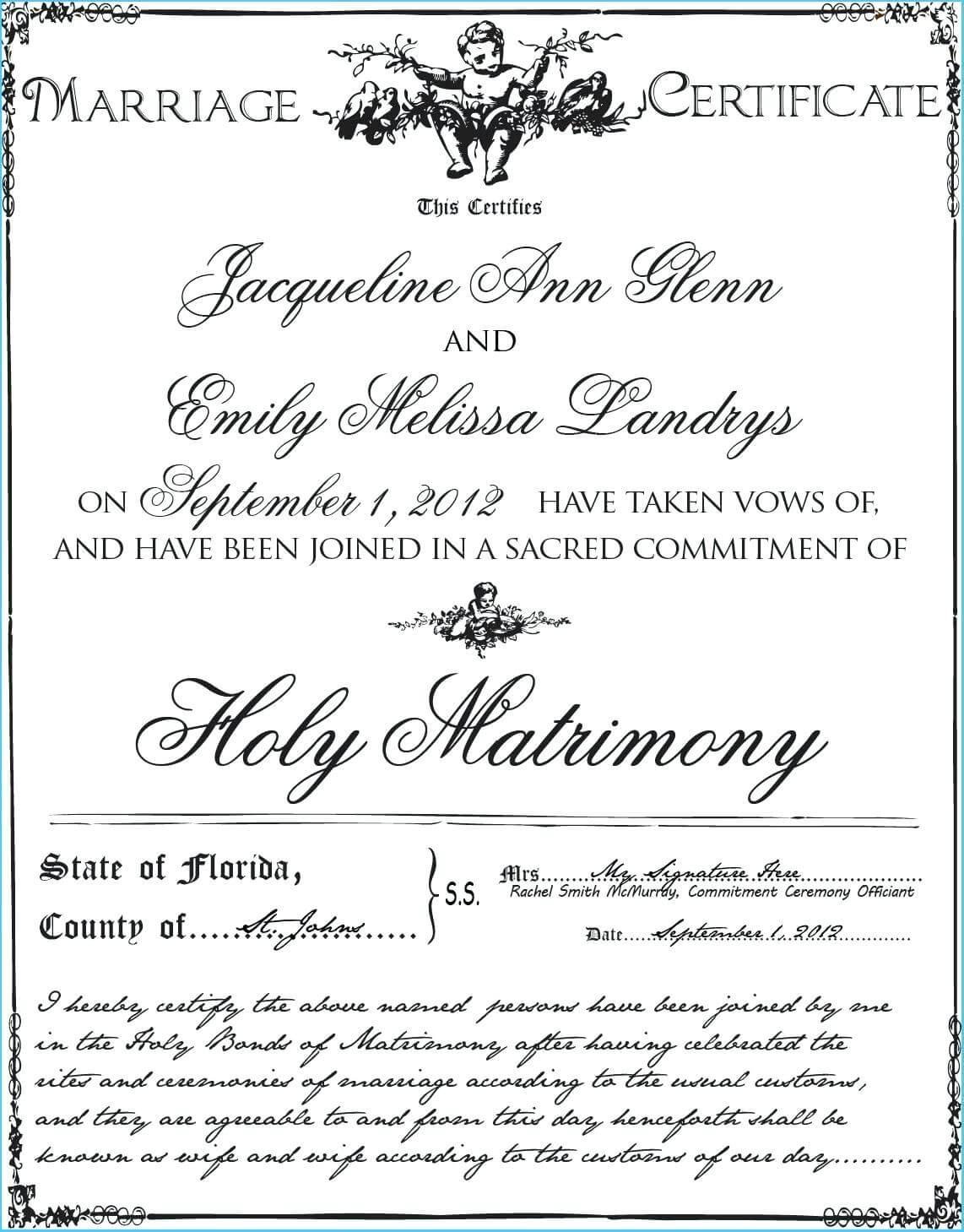Blank Marriage Certificate Template – Uppage.co Regarding Blank Marriage Certificate Template