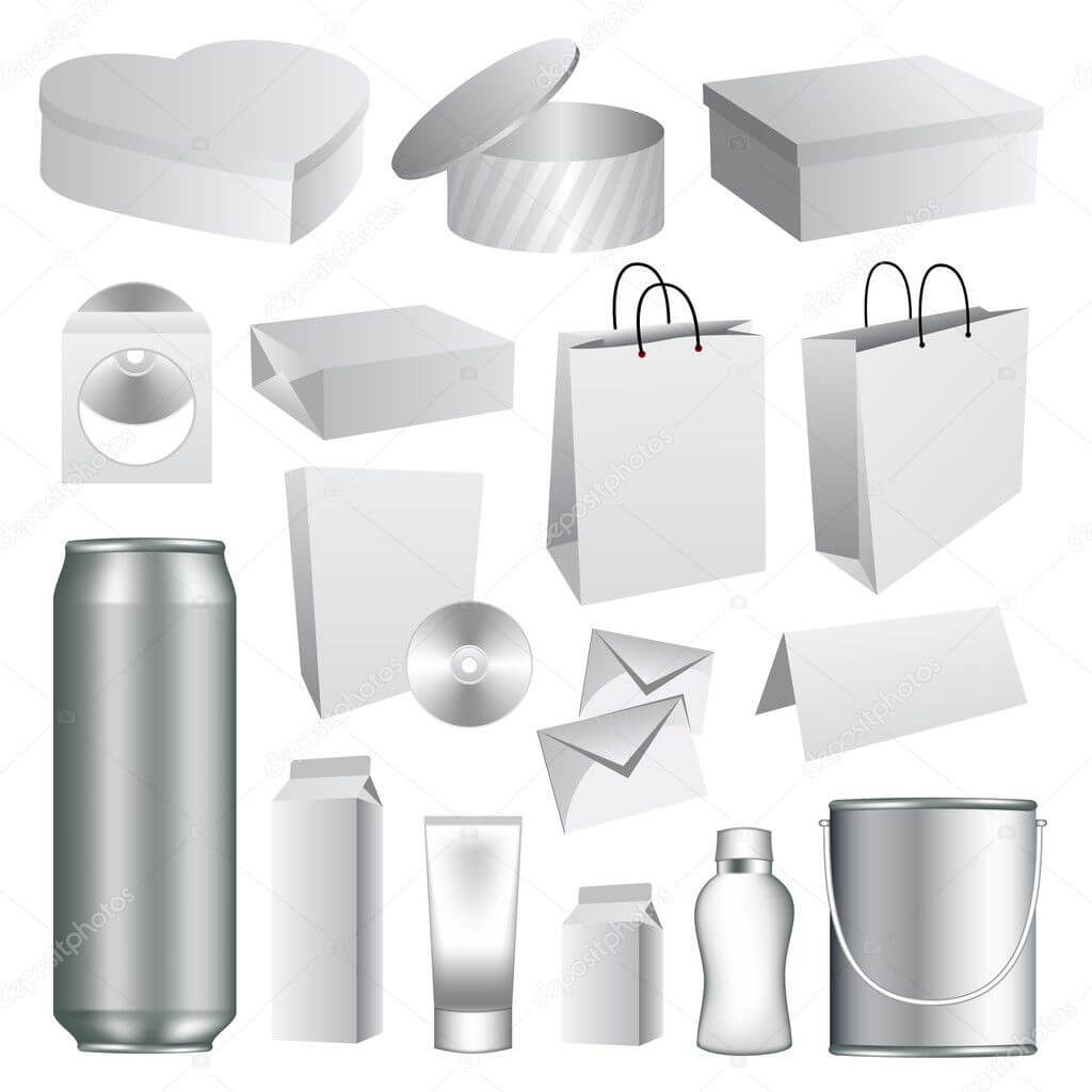 Blank Packaging Templates Collection — Stock Vector For Blank Packaging Templates
