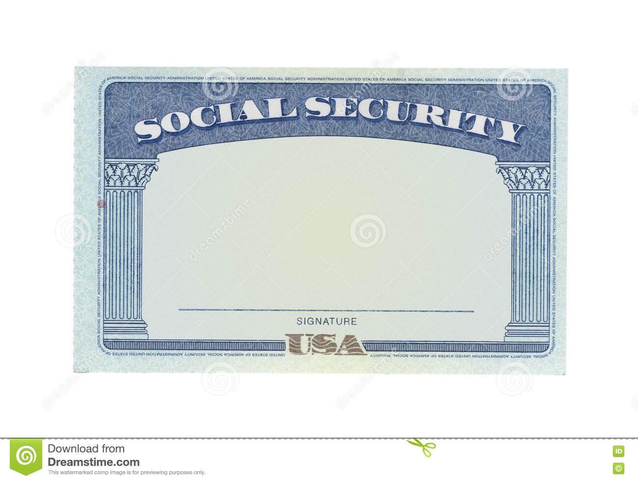 Blank Social Security Card Stock Photos - Download 122 With Blank Social Security Card Template