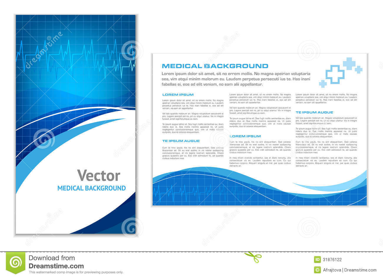 Blue Abstract Medical Background Stock Vector – Illustration Within Healthcare Brochure Templates Free Download