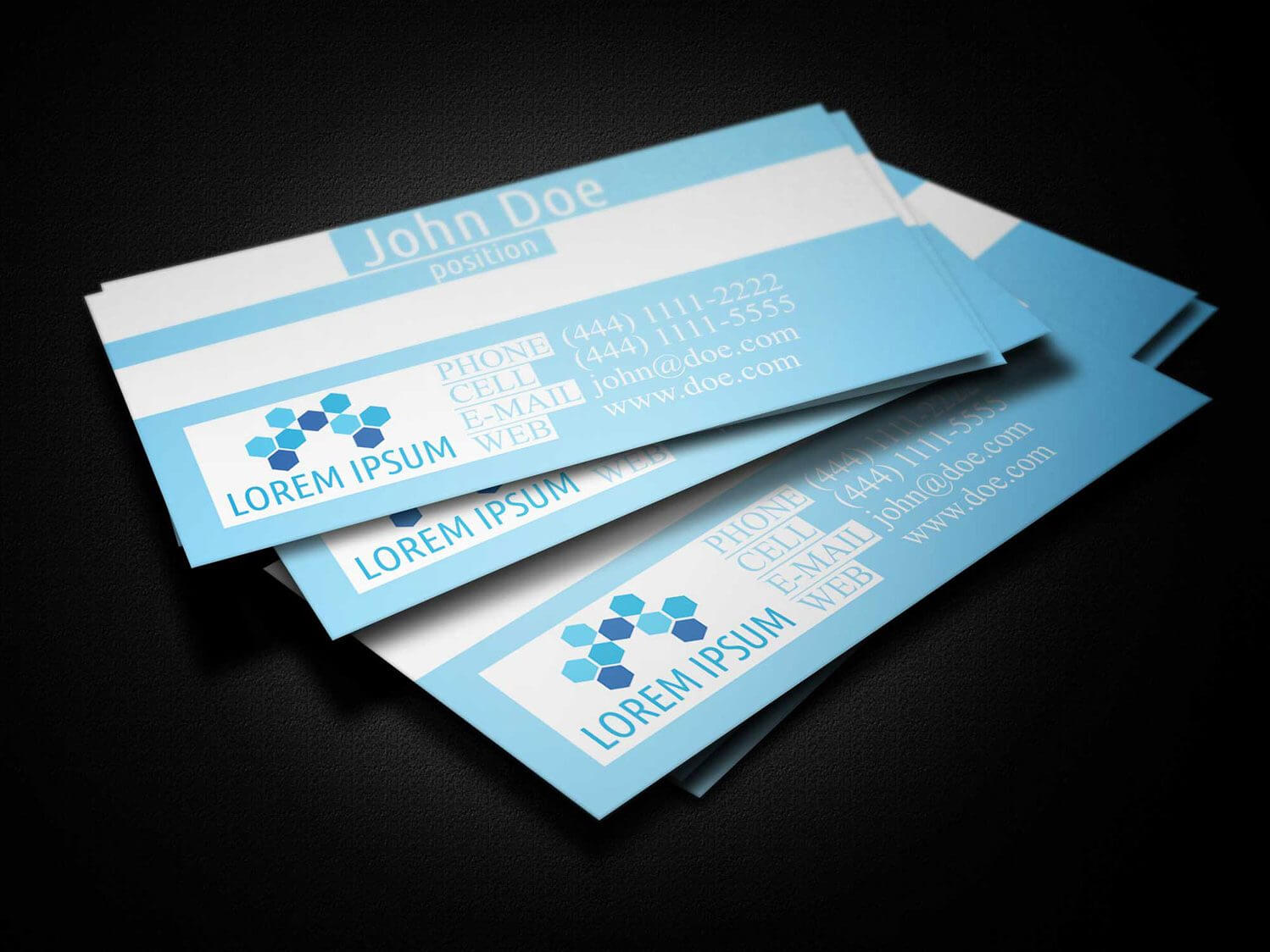 Blue Medical Business Card Template - Business Cards Lab Regarding Medical Business Cards Templates Free