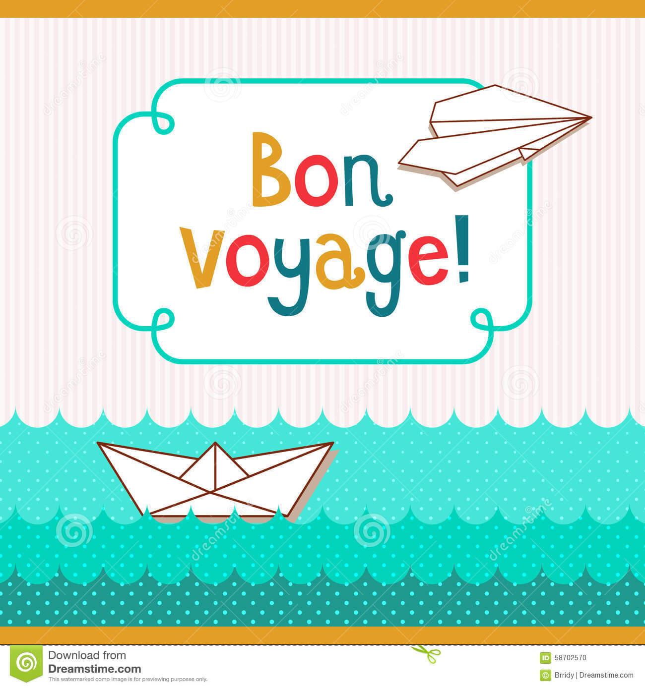 Bon Voyage Card Illustration 58702570 - Megapixl Regarding Bon Voyage Card Template