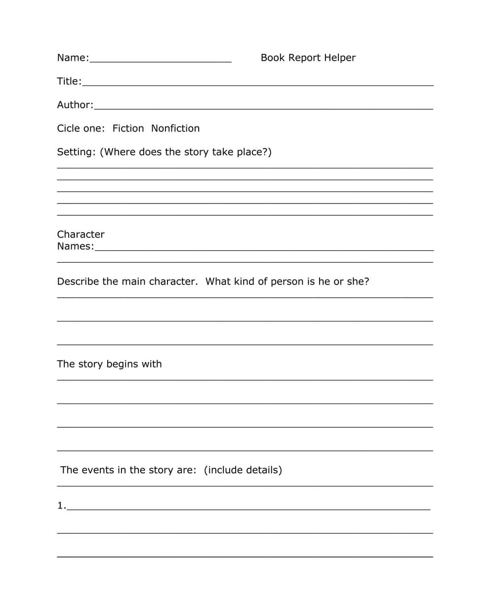 Book Report Templates From Custom Writing Service With Regard To Story Report Template