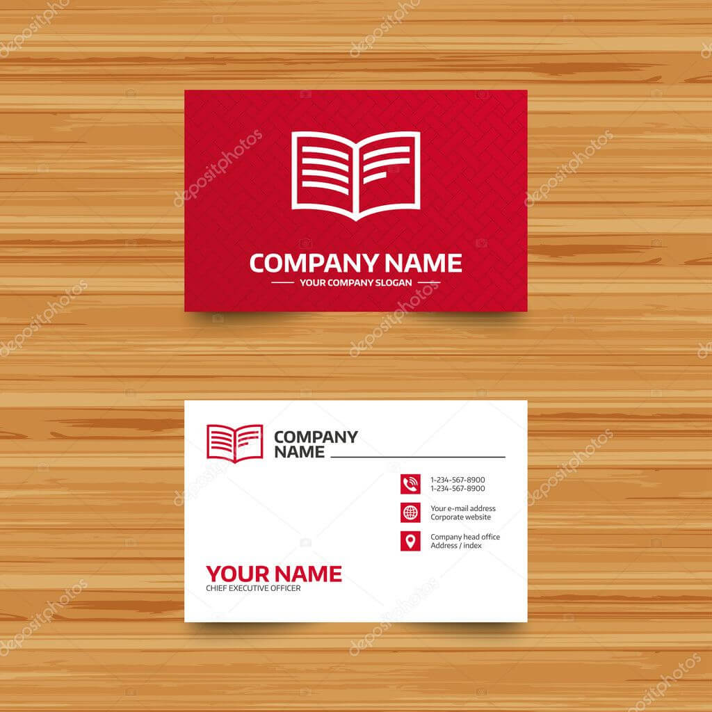 Book Sign Icon. Open Book Symbol. — Stock Vector With Regard To Open Office Index Card Template
