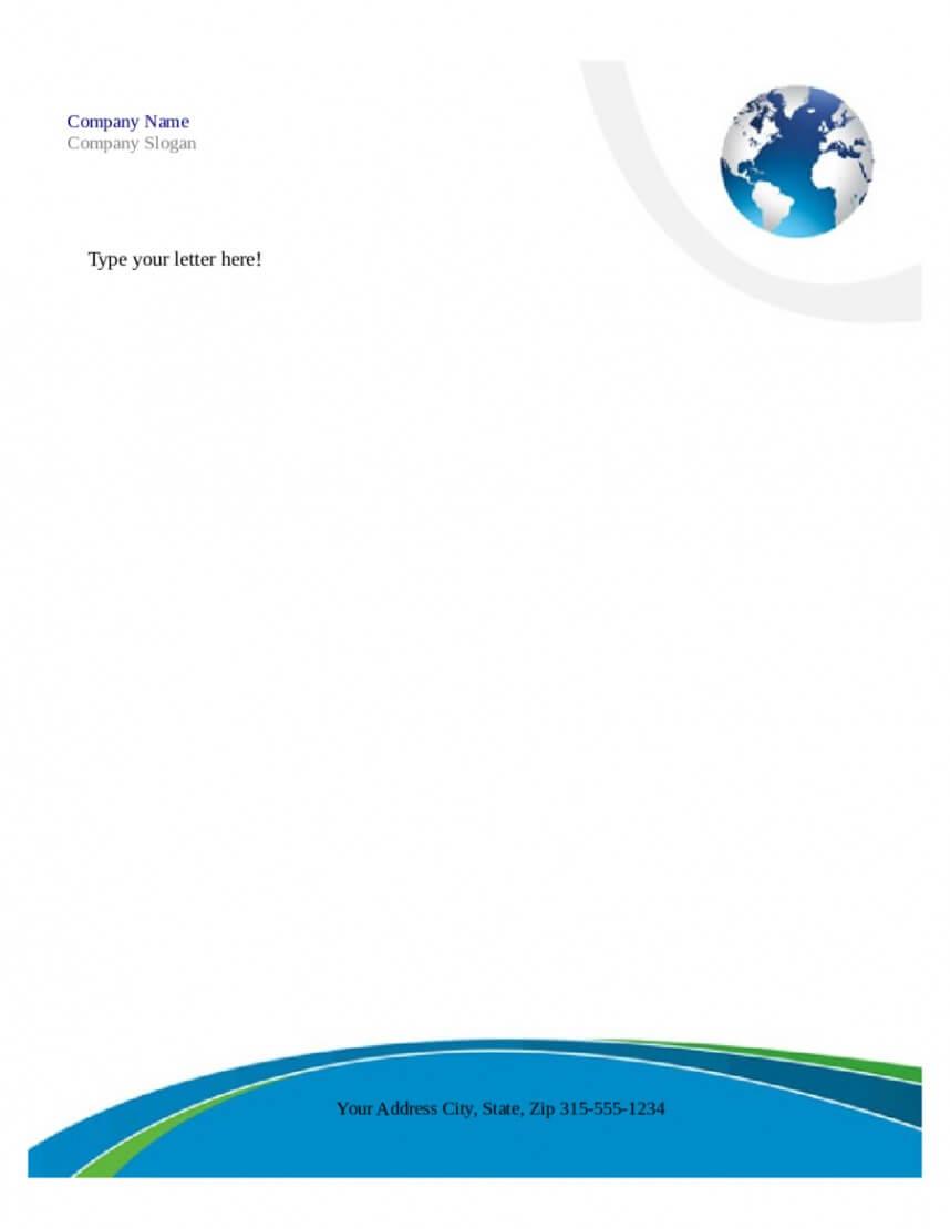 Breathtaking Download Free Business Letterhead Templates Intended For Free Letterhead Templates For Microsoft Word
