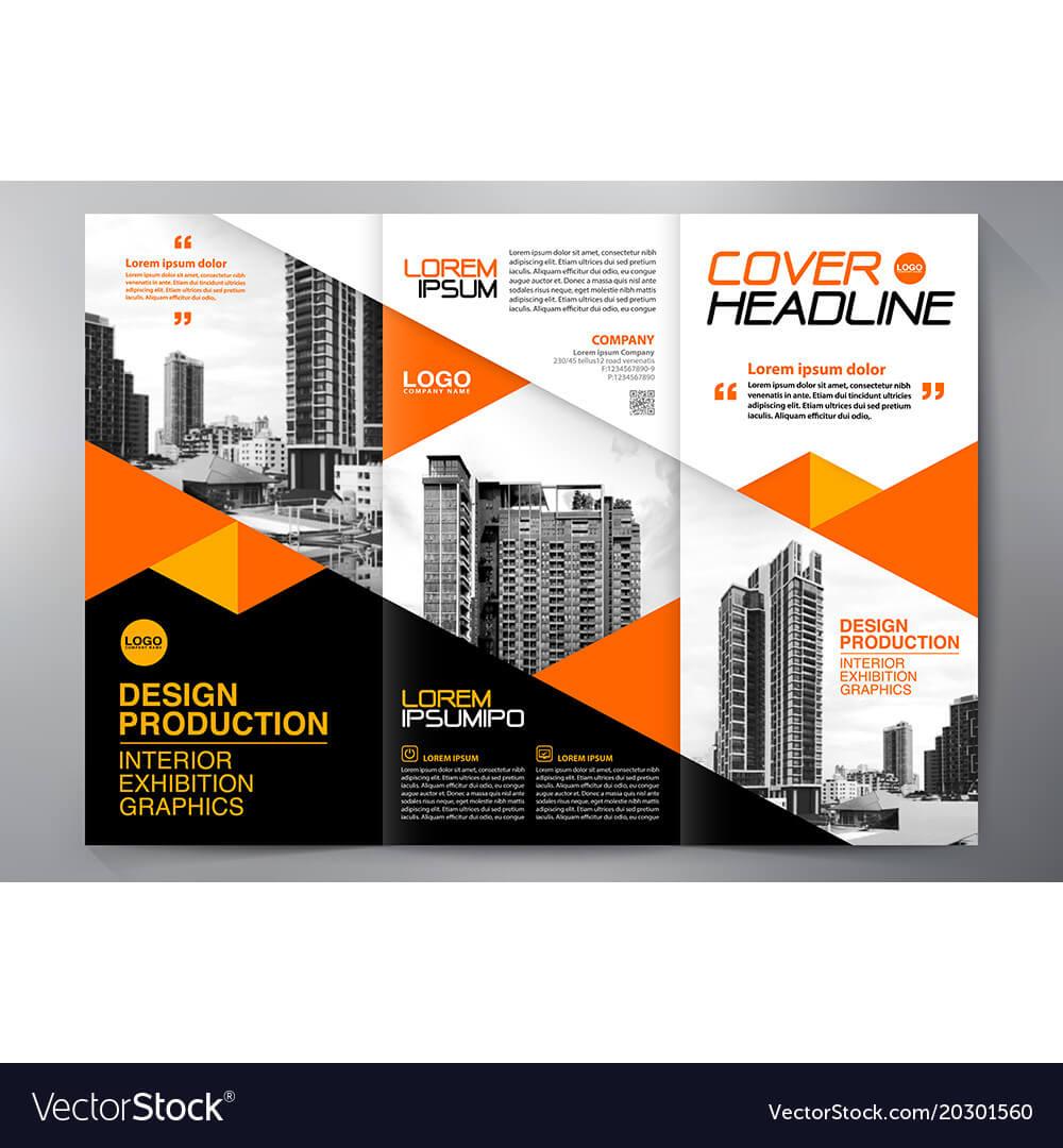 Brochure 3 Fold Flyer Design A4 Template With Regard To E Brochure Design Templates
