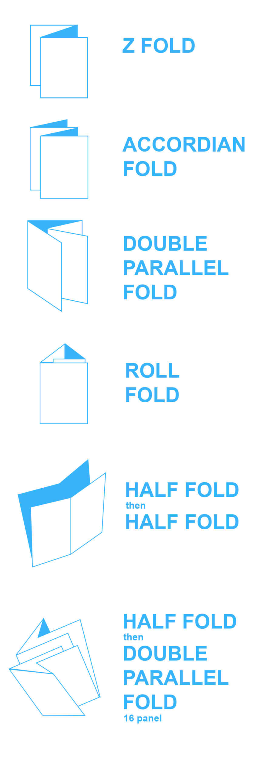 Brochure Folds & Free Templates - Mountain View Printing Throughout Brochure Folding Templates