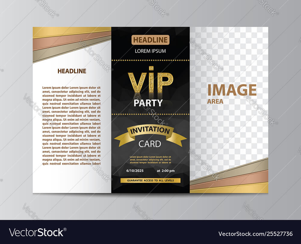 Brochure Template For Vip Party Throughout Membership Brochure Template