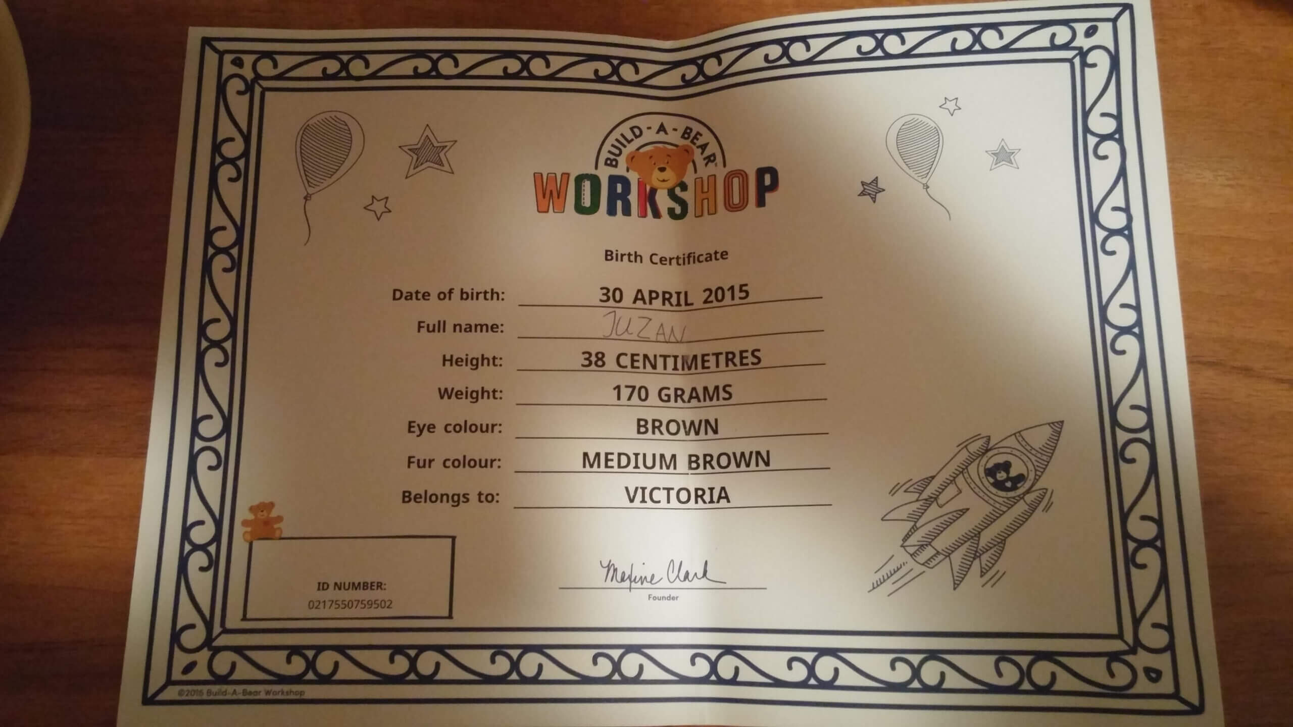 Build A Bear: This Customer Experience Stock Is Going To With Build A Bear Birth Certificate Template