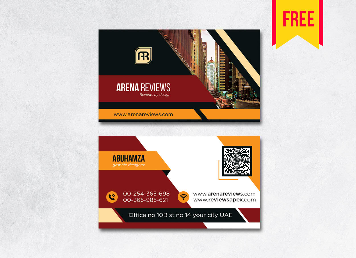 Building Business Card Design Psd - Free Download | Arenareviews With Regard To Download Visiting Card Templates