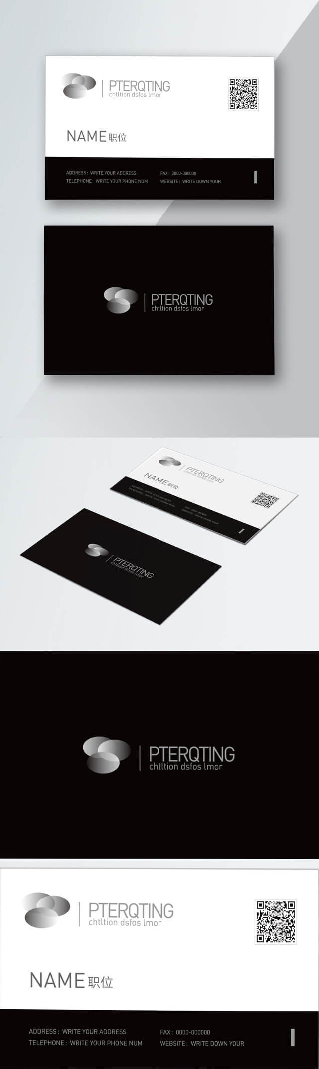 Business Card Black White Corporate Business Card Template For Black And White Business Cards Templates Free