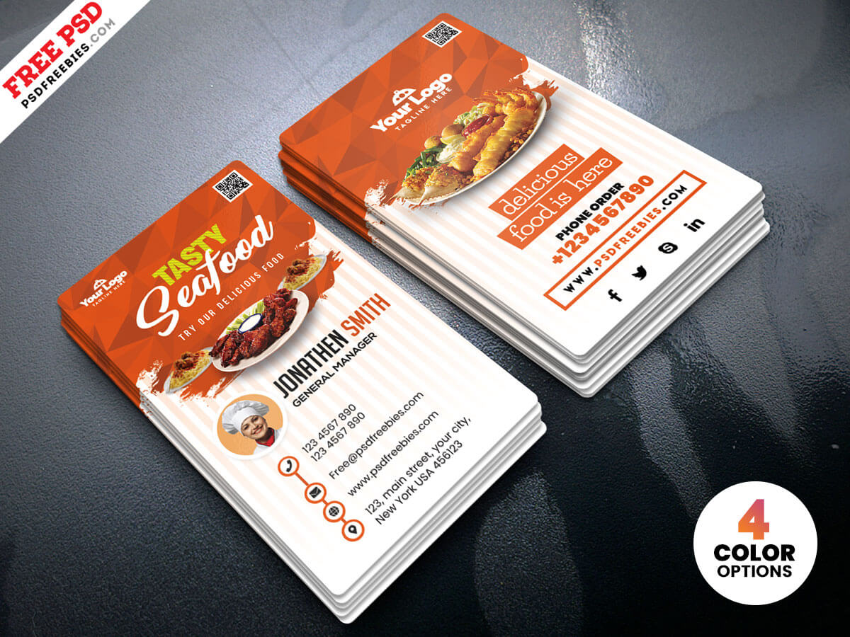Business Card Design Food - Www Throughout Restaurant Business Cards Templates Free