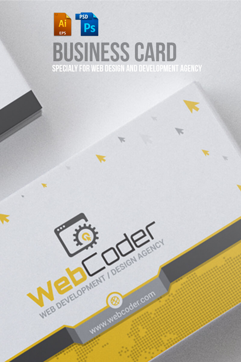 Business Card Design For Web Design And Developer Psd Template Pertaining To Web Design Business Cards Templates
