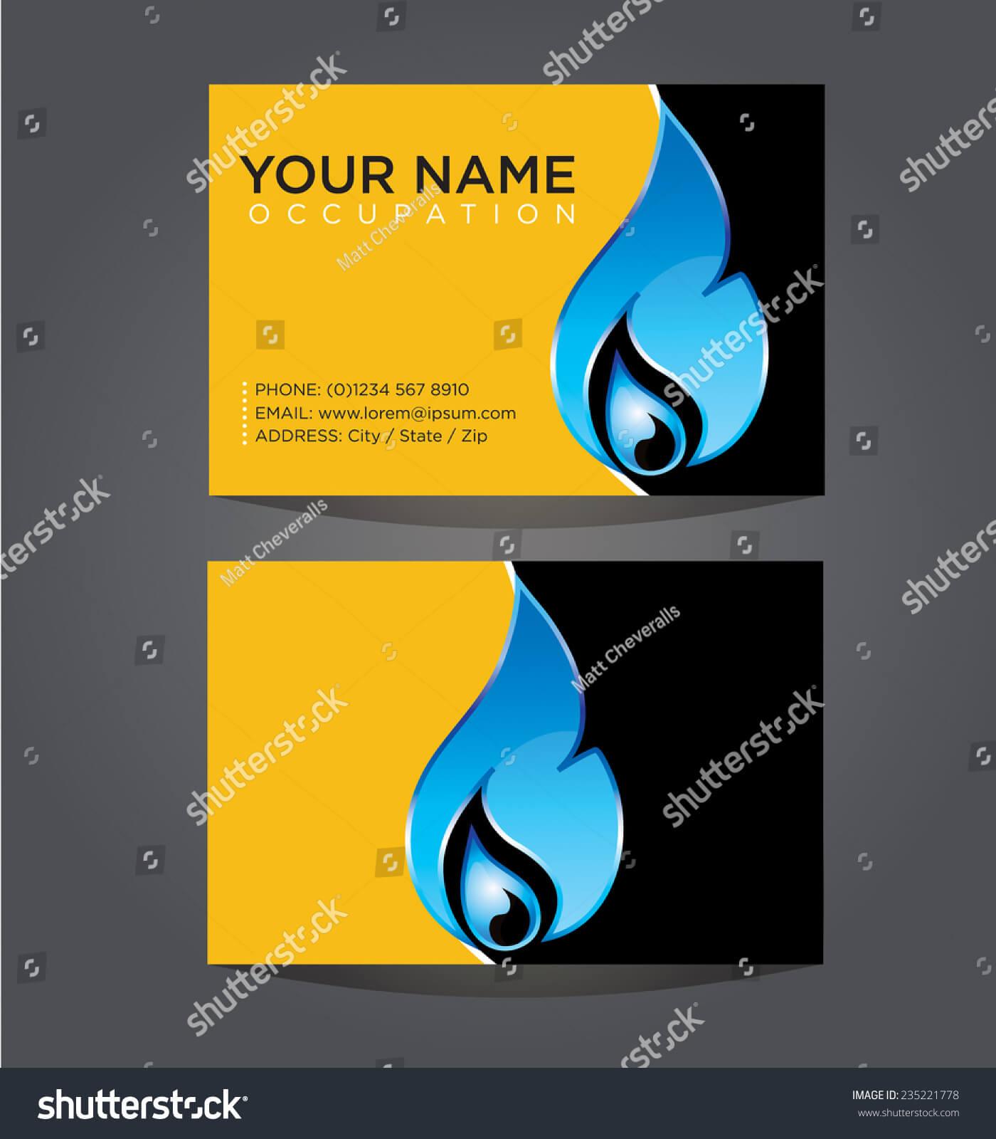 Business Card Template Plumbing Heating Air | Royalty Free In Hvac Business Card Template