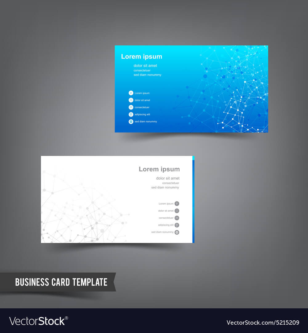 Business Card Template Set 025 Connection Network For Networking Card Template