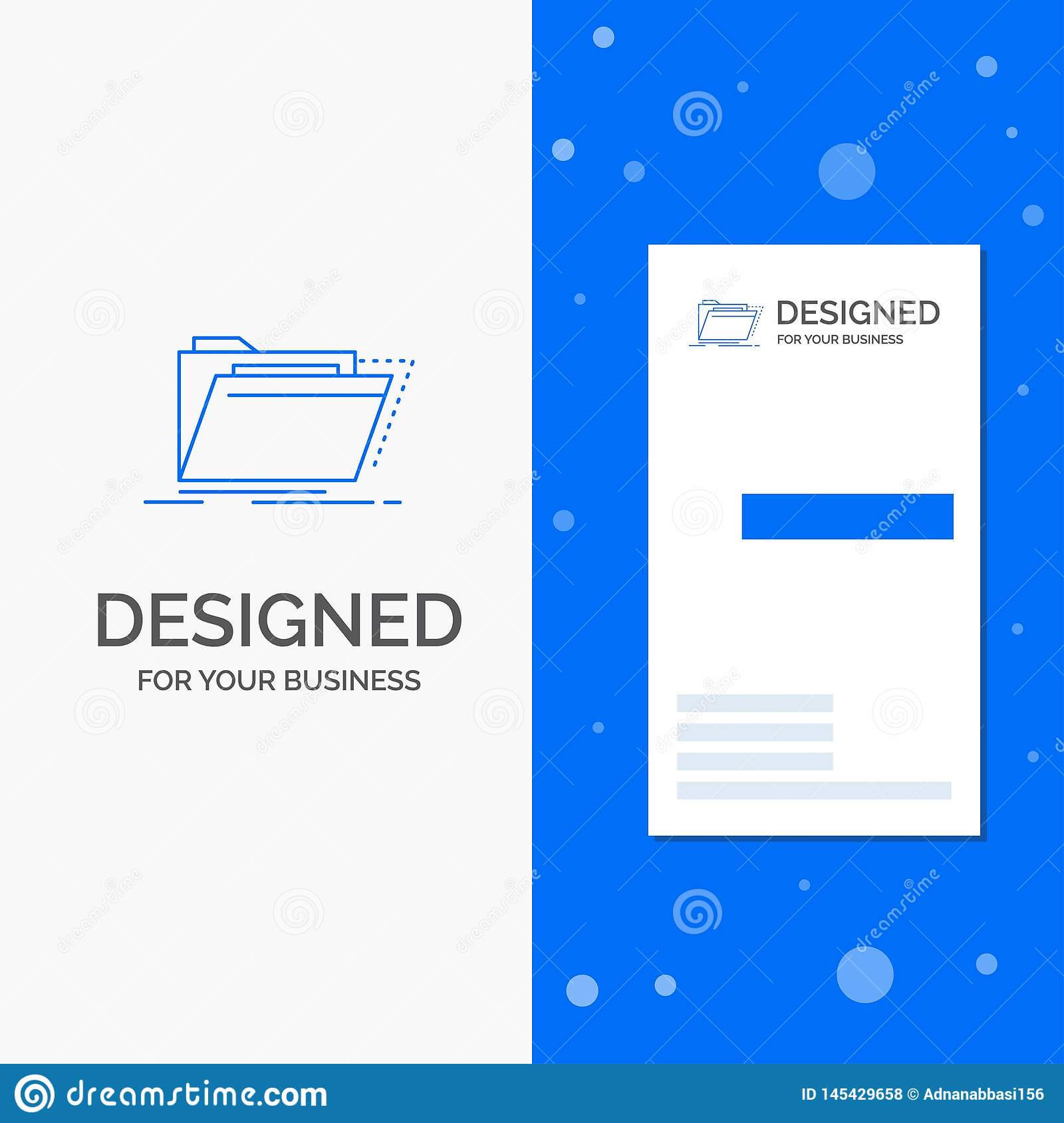 Business Logo For Archive, Catalog, Directory, Files, Folder Intended For Library Catalog Card Template