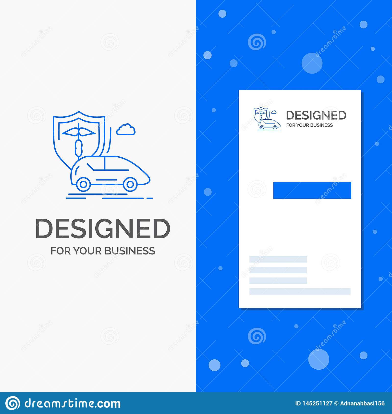 Business Logo For Car, Hand, Insurance, Transport, Safety With Car Insurance Card Template Download